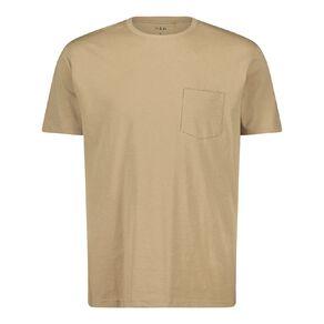 H&H Men's Crew Neck Short Sleeve Pocket Tee