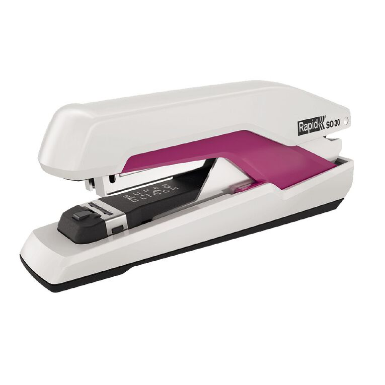 Rapid Stapler So30 Omnipress 30 Sheet Fullstrip White/Pink, , hi-res