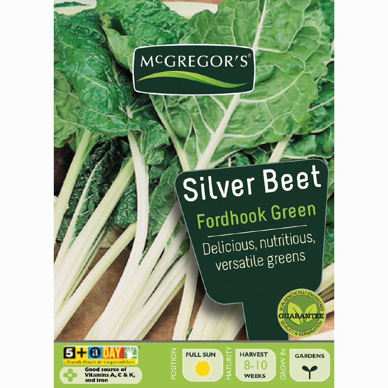 McGregor's Fordhook Green Silverbeet Vegetable Seeds, , hi-res