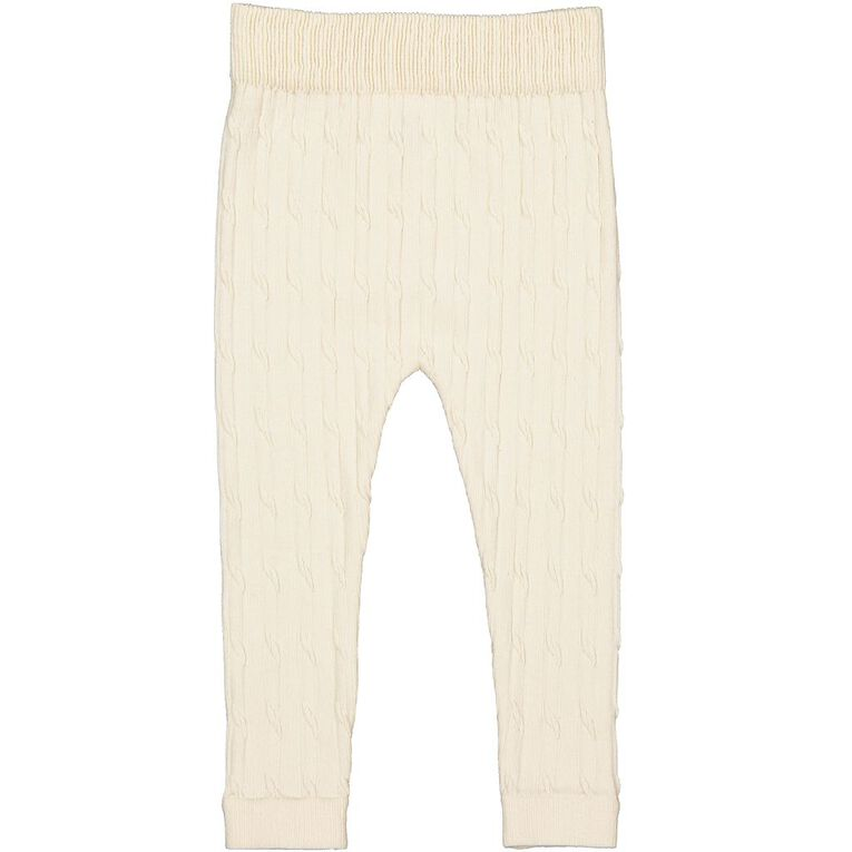 Young Original Toddler Cable Knit Leggings, Cream, hi-res