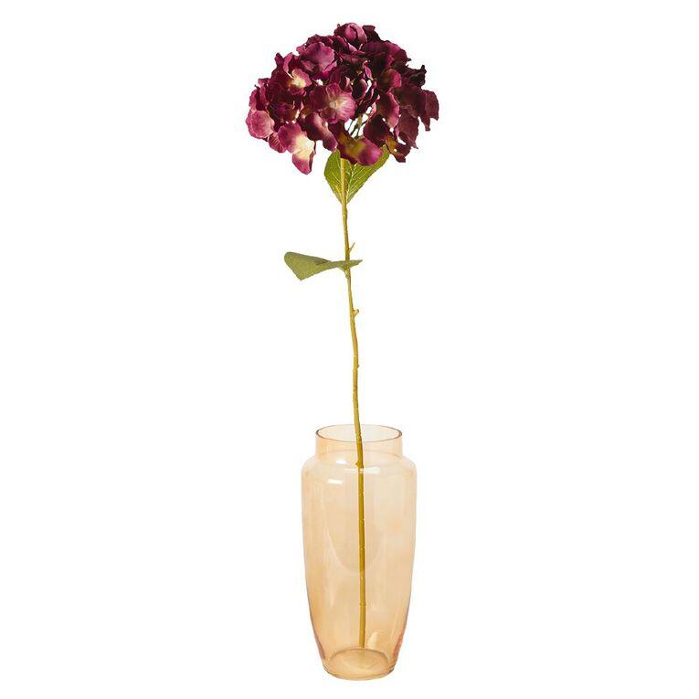 Living & Co Artificial Hydrangea Stem Plum 80cm, , hi-res