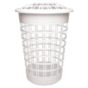 Living & Co Laundry Hamper with Lid White 64L