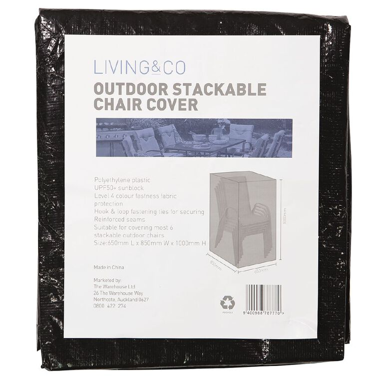 Living & Co Stackable Chairs Cover, , hi-res