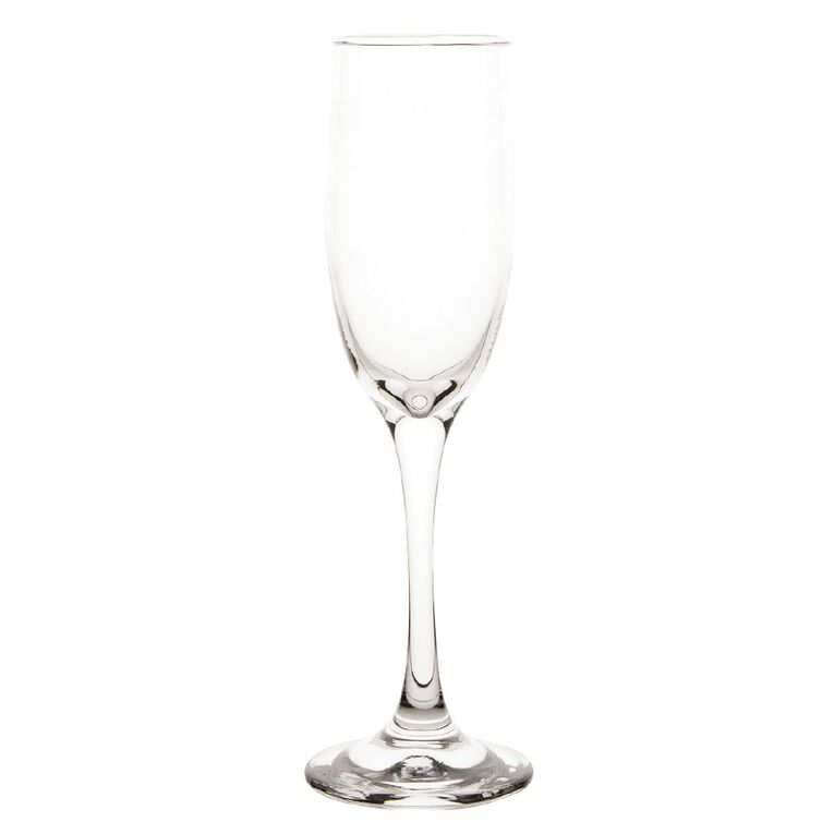 Living & Co Traditional Flute Glass 6 Pack 180ml, , hi-res