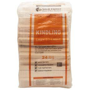 Solid Energy Kindling Bulk Bag 24L North Island Brown