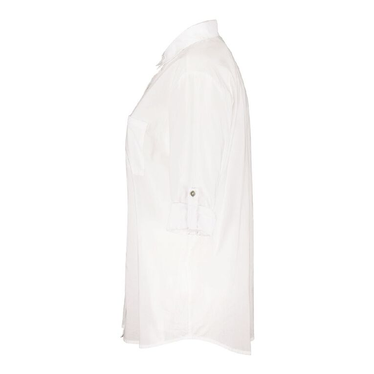 H&H Women's Voile Shirt, White, hi-res image number null
