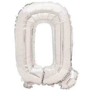 Artwrap Foil Balloon Q Silver 35cm