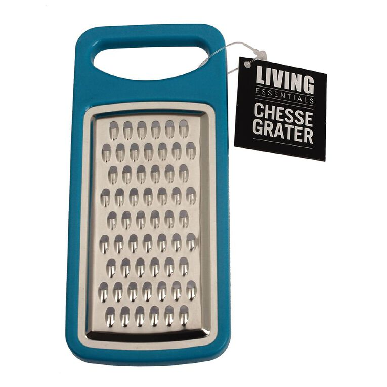 Living Essentials Cheese Grater with Clear Cover Blue, , hi-res