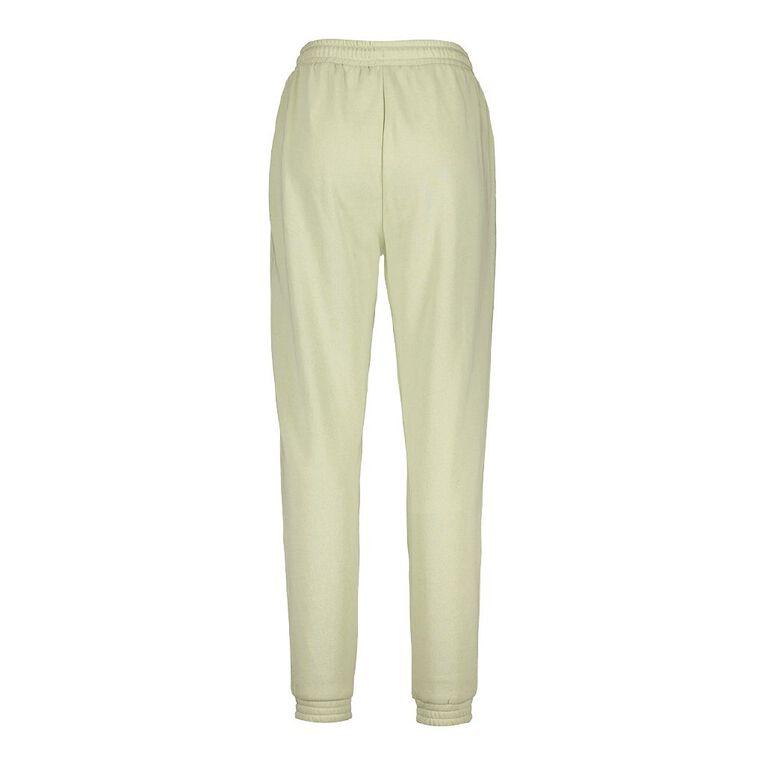 H&H Women's Elastic Fleece Trackpants, Green Light, hi-res