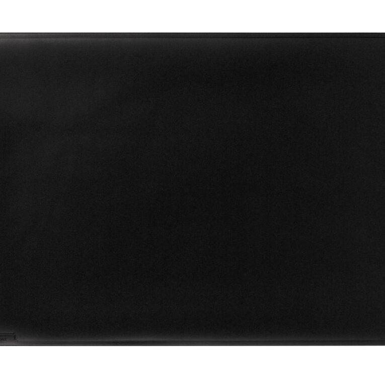 Durable Black Desk Mat 530mm x 400mm Black, , hi-res