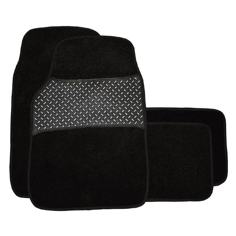 Wildcat Car Mat Carpet Set Black 4 Pack, , hi-res