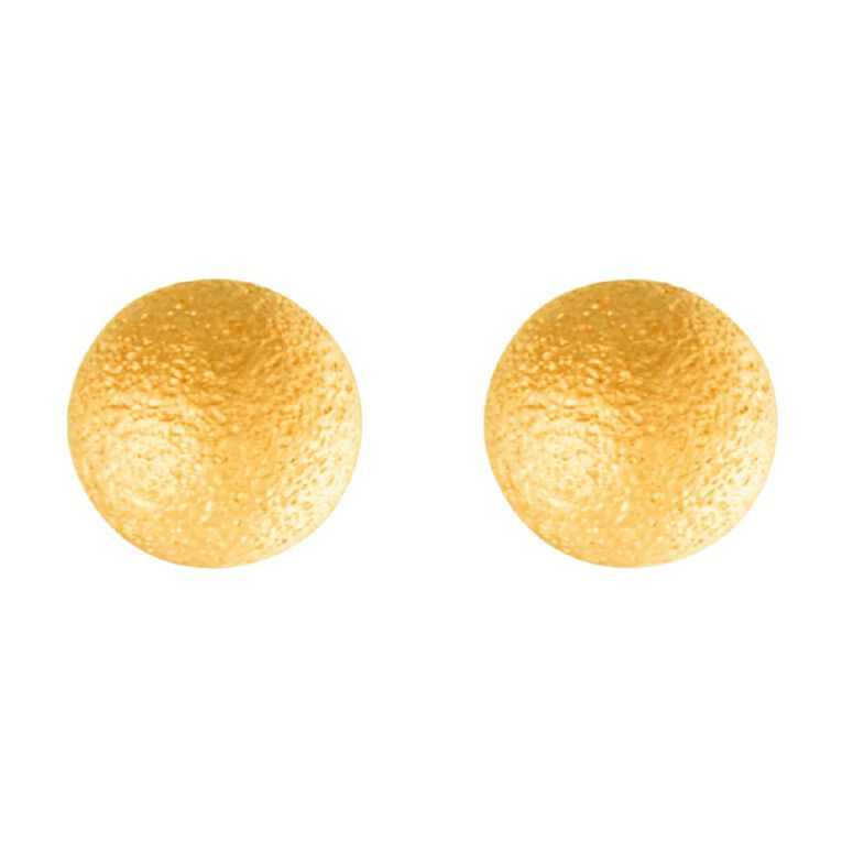 9ct Gold Stardust Ball Stud Earrings 4mm, , hi-res