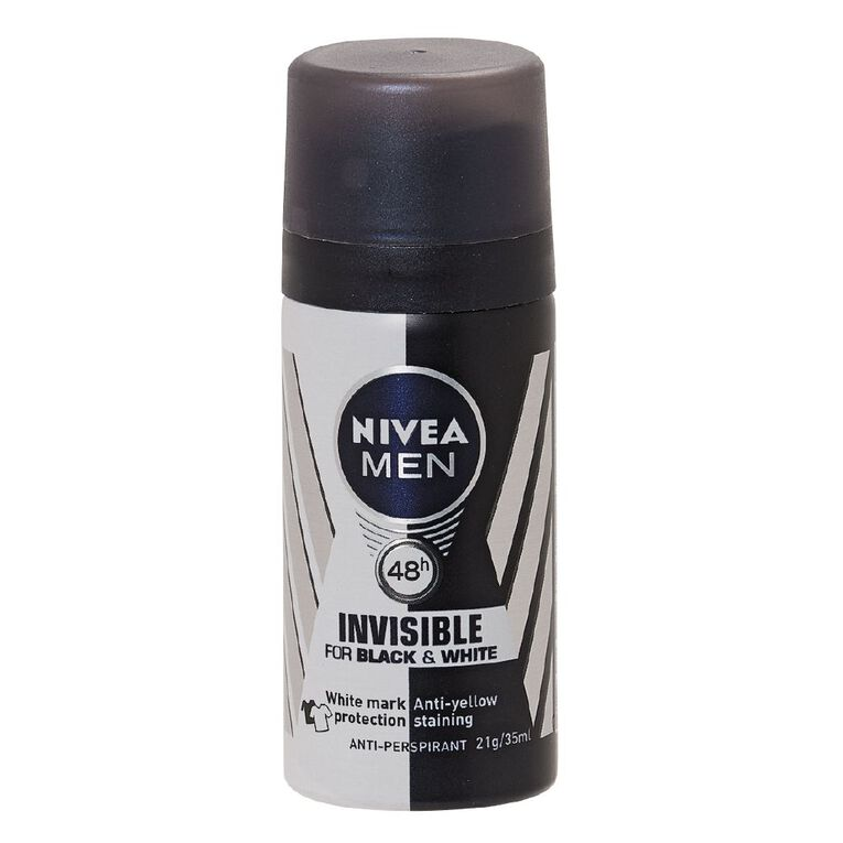 Nivea Men Deodorant Black And White 35ml, , hi-res