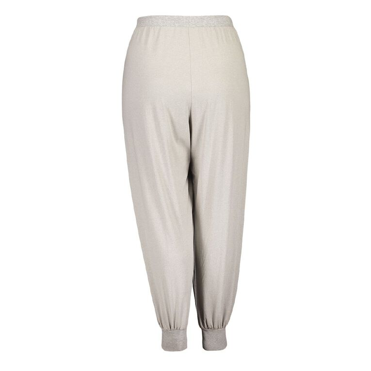 H&H Cosy Curvy Women's Stretch Pyjama Pants, Grey, hi-res