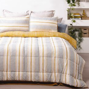 Living & Co 3 Piece Comforter Set Printed Roman Multi-Coloured