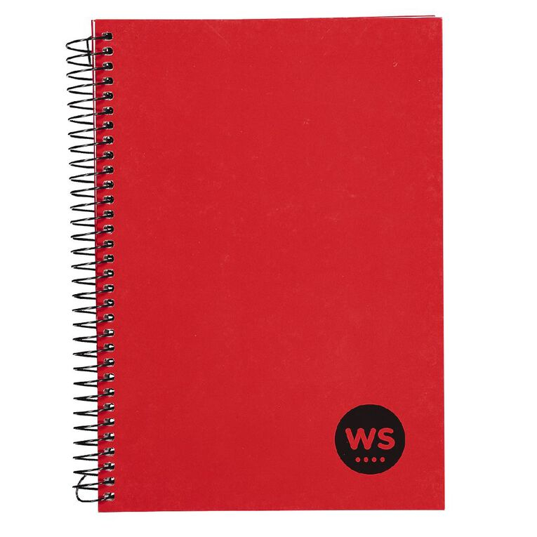 WS Notebook Wiro 200 Pages Hard Back Red A5, , hi-res