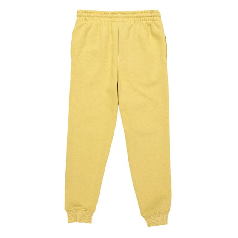 Young Original Print Leg Trackpants, Yellow Dark, hi-res