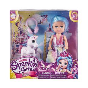 Zuru Sparkle Girlz Doll & Pet Play Set Assorted