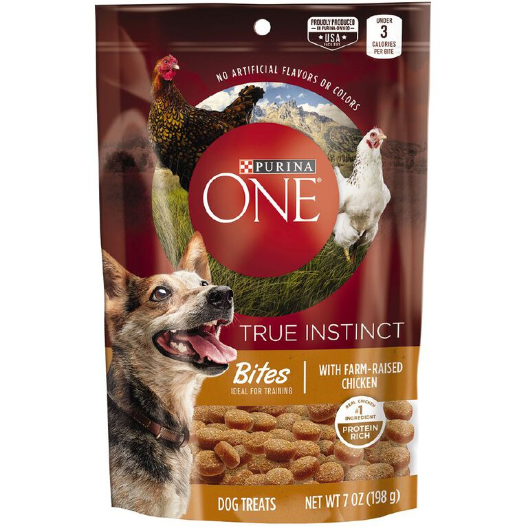 Purina One Dog Treats Bites Chicken 198g, , hi-res