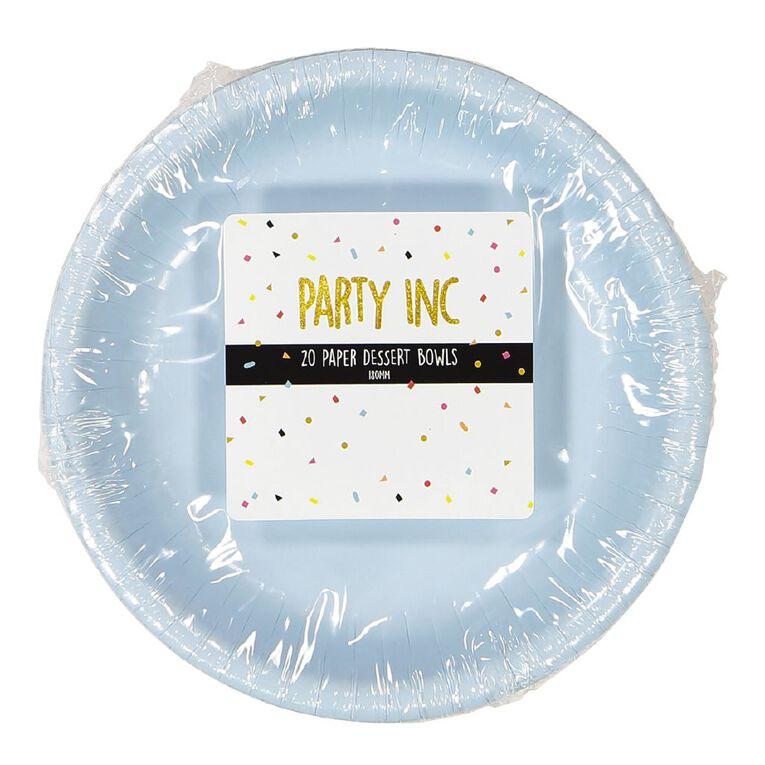 Party Inc Paper Bowls Pastel Blue 20 Pack, , hi-res