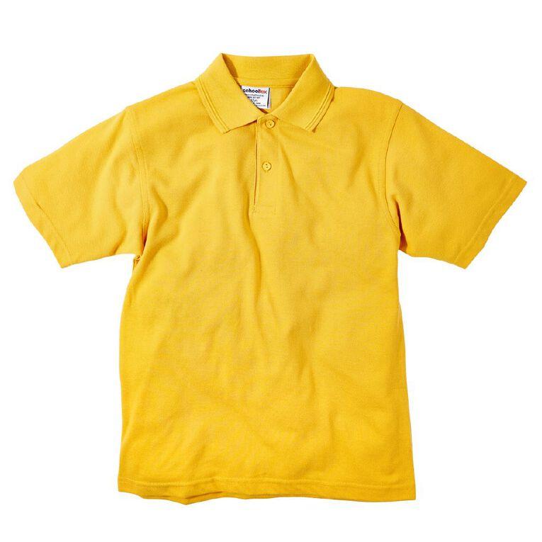 Schooltex Kids' Pique Polo, Gold, hi-res