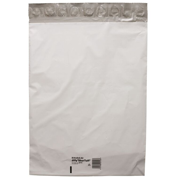 Jiffy Shurtuff Mailbag St4 340 x 440mm 10 Pack, , hi-res
