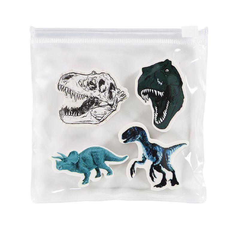 Kookie Rawr Eraser 4 Pack Dino Green, , hi-res