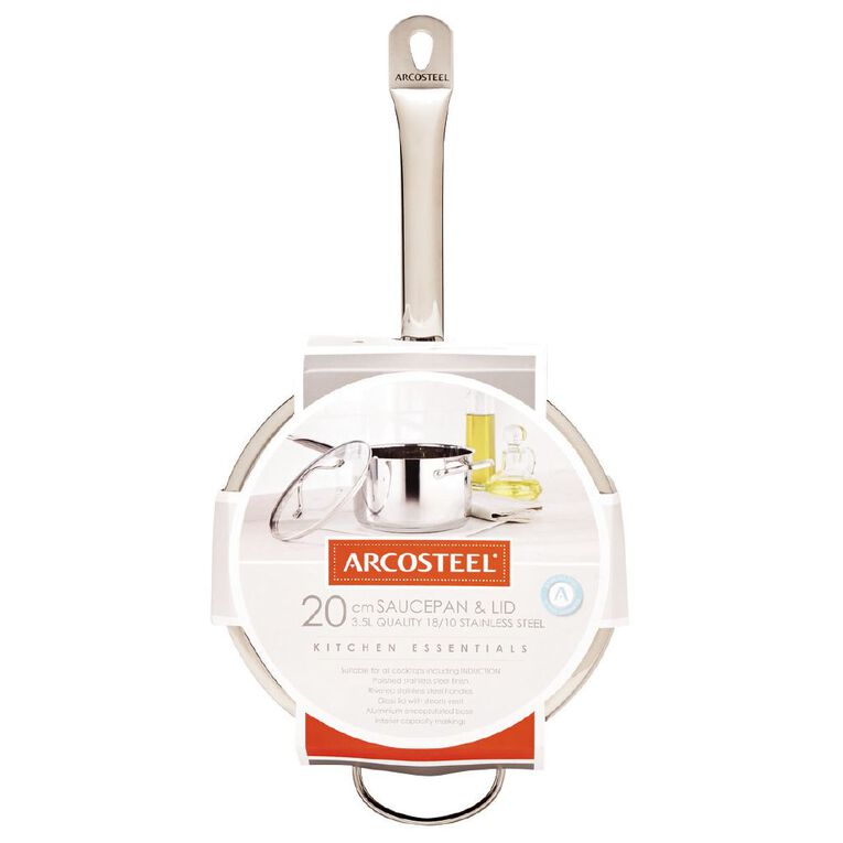 Arcosteel Chefs Choice Saucepan Stainless Steel 20cm, , hi-res