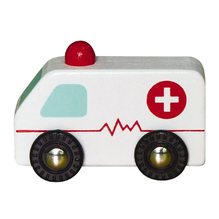 Play Studio Mini Wooden Vehicle Ambulance, , hi-res image number null