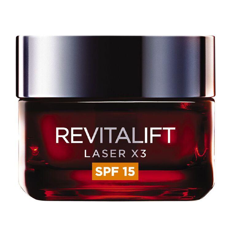 L'Oreal Paris Revitalift Laser X3 Day Moisturiser SPF15 50ml, , hi-res