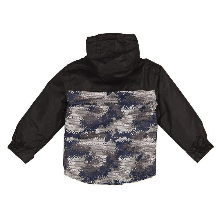 Young Original Boys' Spliced Ski Jacket, Black, hi-res