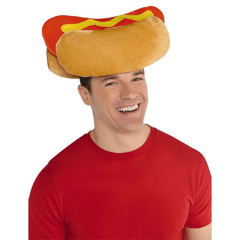 Amscan Hot Dog Hat Red & Brown Adult, , hi-res