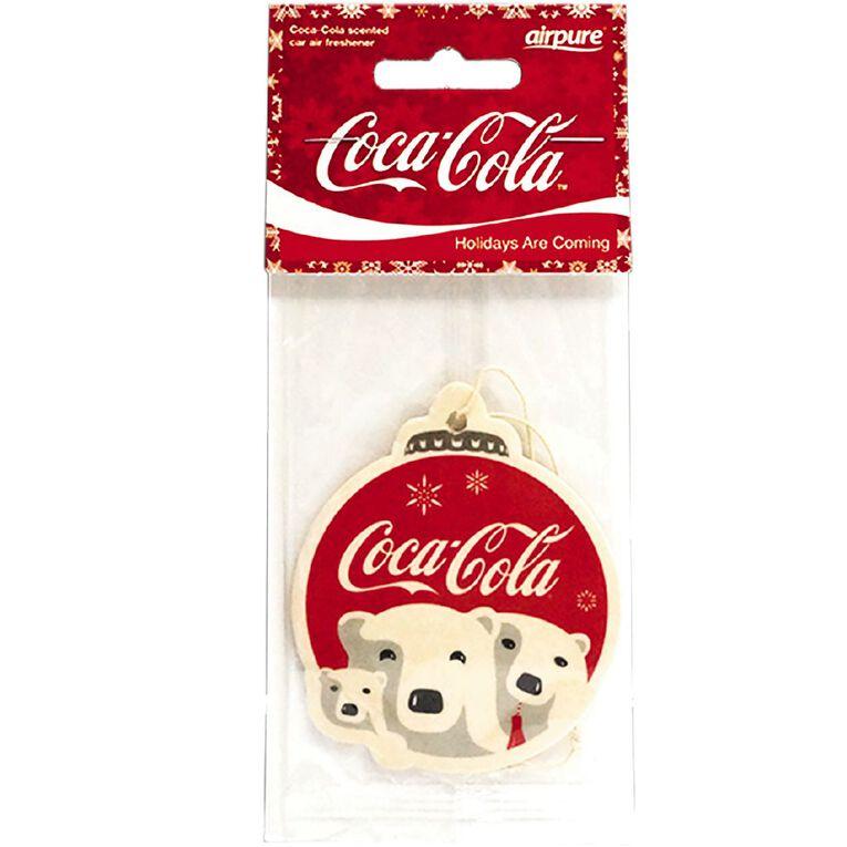 Coca Cola Single Air Freshner Christmas Polar Bear, , hi-res