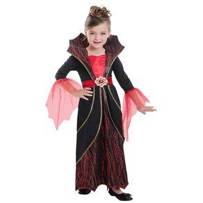 Amscan Red Vampiress Kids Costume 5-7 Years