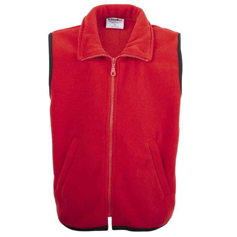 Schooltex Kids' Sleeveless Vest, Red, hi-res