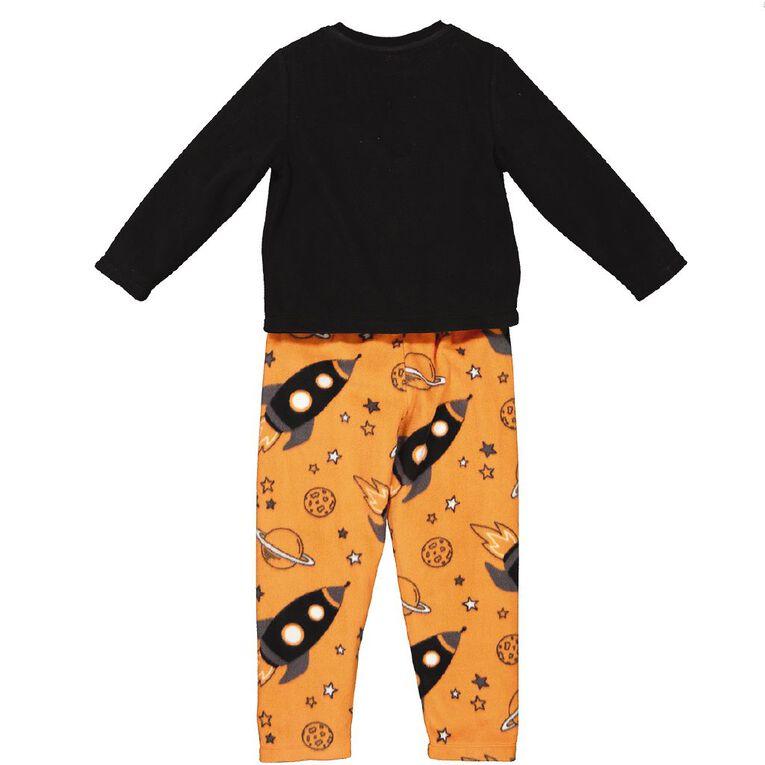 H&H Boys' Fleece Pyjamas, Black, hi-res