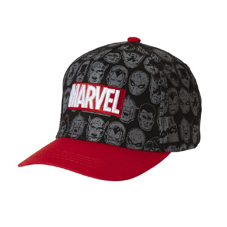 Marvel Boys' Marvel Cap, Black, hi-res