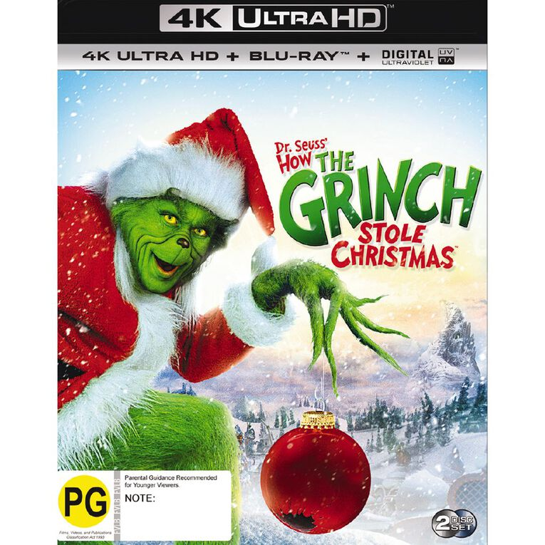 How The Grinch Stole Christmas 4K Blu-ray 2Disc, , hi-res