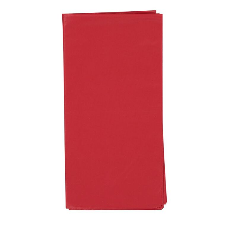 Party Inc Plastic Tablecover 137cm x 274cm Red, , hi-res