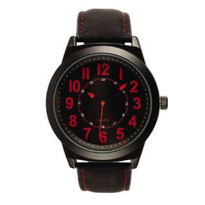 Eternity Men Analogue Watch Nato with Red Accent Black
