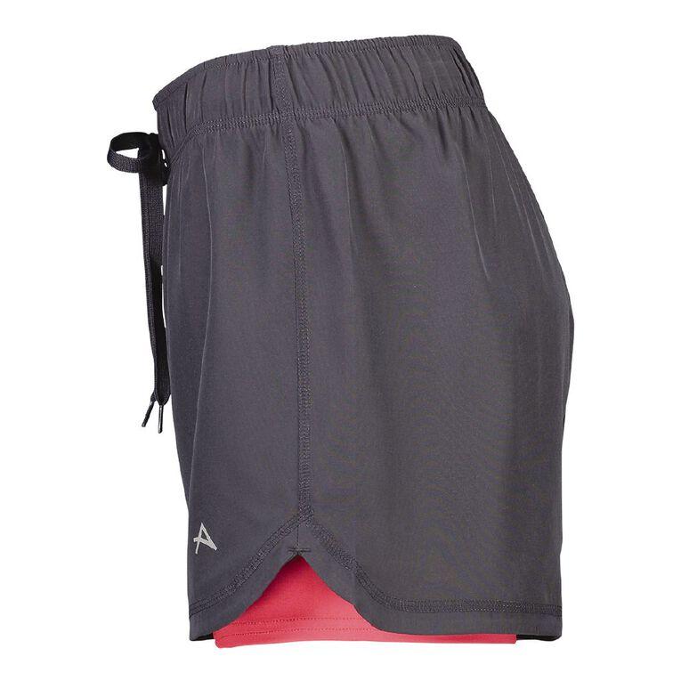 Active Intent Women's 2-in-1 Shorts, Grey Dark, hi-res image number null