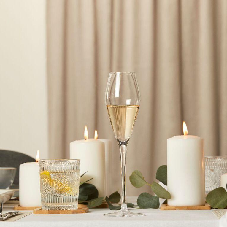 Living & Co Maya Champagne Glass 4 Pack 270ml, , hi-res