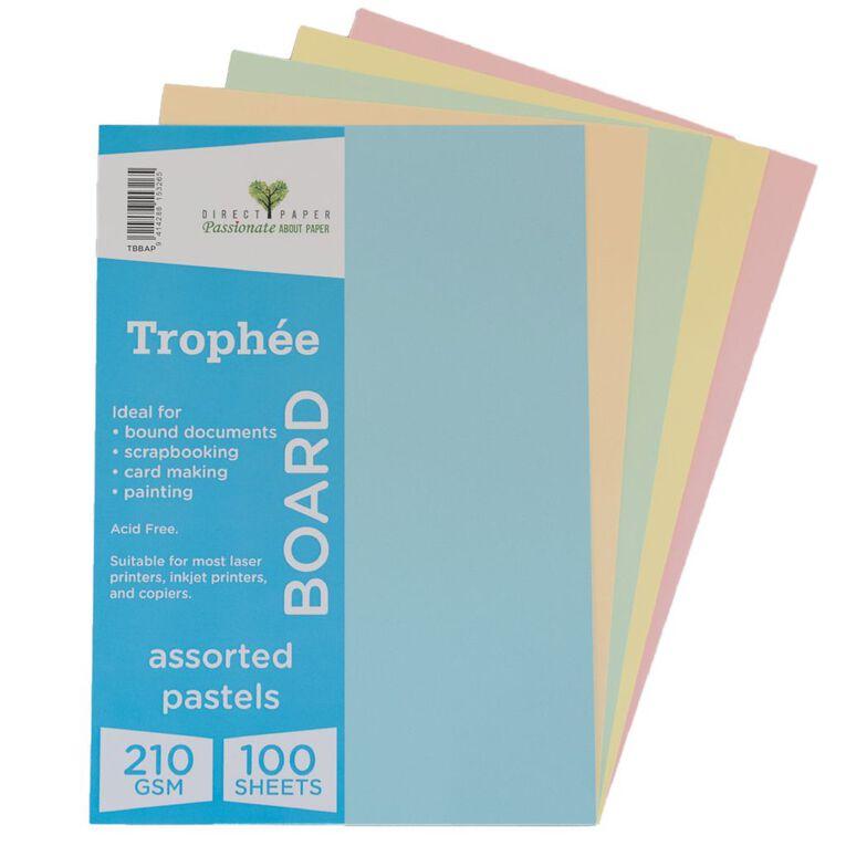 Trophee Board 210gsm 100 Pack Pastels Assorted A4, , hi-res