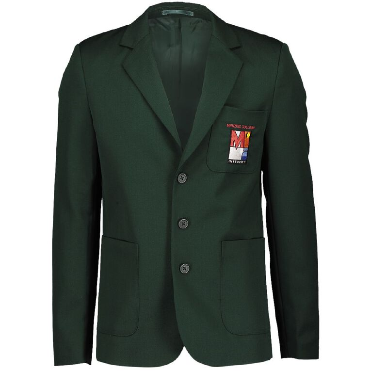 Schooltex Menzies College Blazer with Embroidery, Bottle Green, hi-res