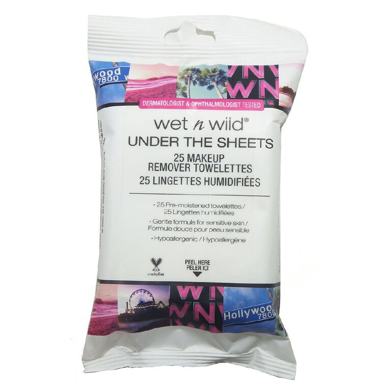 Wet n Wild Makeup Remover Towelettes Under The Sheets, , hi-res
