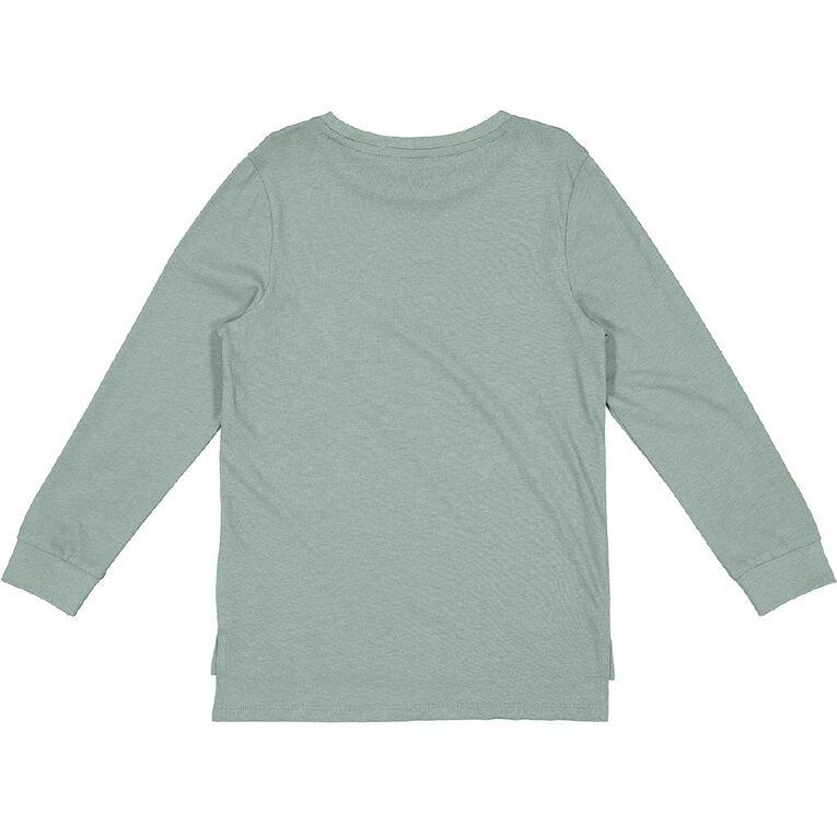 Young Original Long Sleeve Print Cuff Tee, Green Mid, hi-res