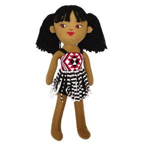 NZ Maori Plush Doll Wahine 40cm 40cm