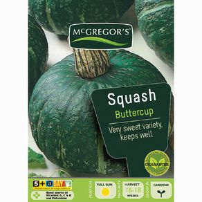 McGregor's Squash Buttercup Vegetable Seeds