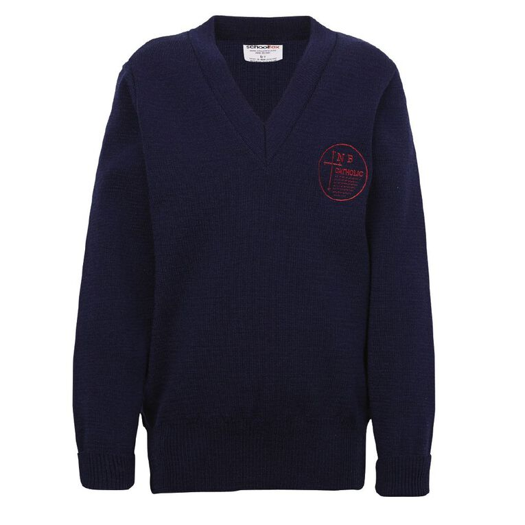 Schooltex New Brighton Catholic School Jersey with Embroidery, Dark Royal, hi-res