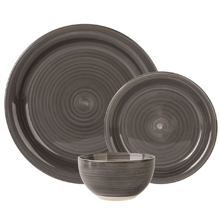 Living & Co Coatesville Dinner Set Charcoal 12 Piece, , hi-res image number null
